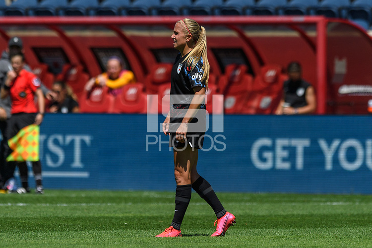 BRIDGEVIEW, IL - JUNE 5: Alyssa Mautz #4 of the Chicago Red Stars looks on during a game between North Carolina Courage and Chicago Red Stars at SeatGeek Stadium on June 5, 2021 in Bridgeview, Illinois.