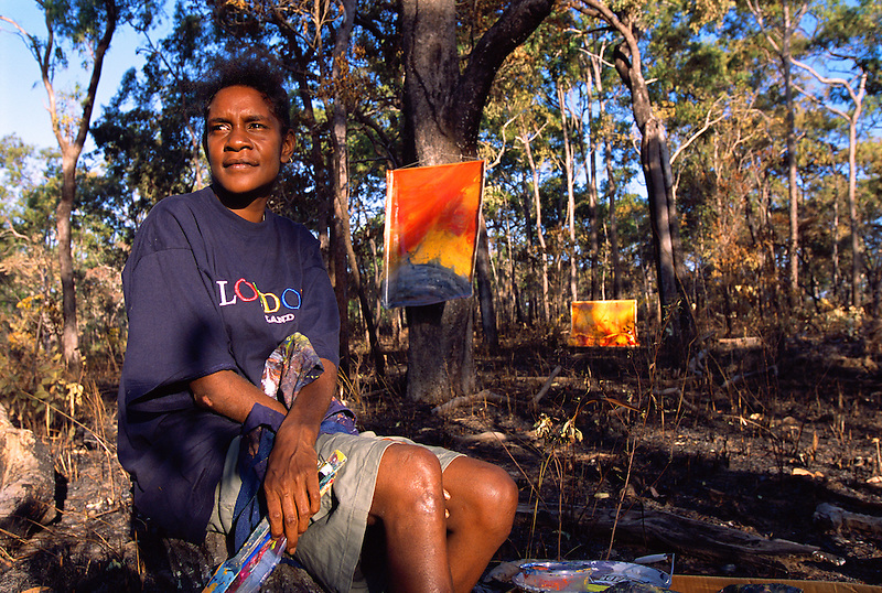 Samantha Hobson, Lockhart River Artist, Kuuku 'Yau group, Cape York Peninsula.