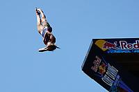 12th June 2021, Saint-Raphaël, Provence-Alpes-Côte d'Azur, France; Red Bull Cliff Diving competition;  Iris SCHMIDBAUER (Germ)