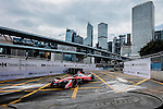 Nick Heidfeld of Mahindra Racing team during the first stop of the FIA Formula E Championship HKT Hong Kong ePrix at the Central Harbourfront Circuit on 9 October 2016, in Hong Kong, China. Photo by Victor Fraile / Power Sport Images