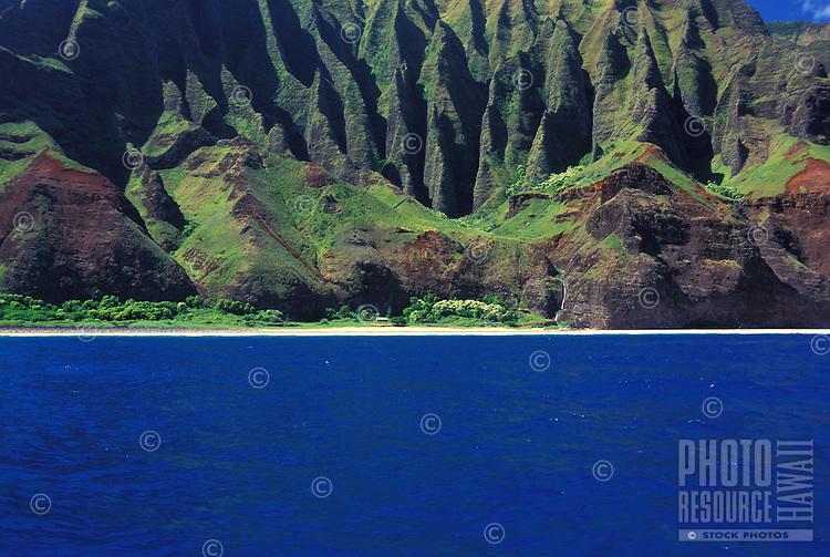 Na Pali coastline on the north shore of Kauai