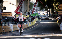 Kragh Soren Andersen (DEN/Sunweb) wins solo (with a chasing peloton behind) into Lyon<br /> <br /> Stage 14 from Clermont-Ferrand to Lyon (194km)<br /> <br /> 107th Tour de France 2020 (2.UWT)<br /> (the 'postponed edition' held in september)<br /> <br /> ©kramon