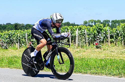 17th July 2021, St Emilian, Bordeaux, France;  BENNETT Sean (USA) of TEAM QHUBEKA NEXTHASH during stage 20 of the 108th edition of the 2021 Tour de France cycling race, an individual time trial stage of 30,8 kms between Libourne and Saint-Emilion.