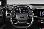 Car pictures of steering wheel view of a 2022 Audi Q4-e-tron EV-S-Line 5 Door SUV Steering Wheel