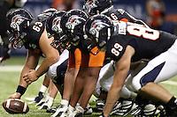 SAN ANTONIO, TX - SEPTEMBER 22, 2012: The Northwestern Oklahoma State University Rangers versus The University of Texas at San Antonio Roadrunners Football at the Alamodome. (Photo by Jeff Huehn)