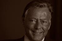 Umberto Agnelli, vice presidente Fiat Turin. Umberto Agnelli è stato un imprenditore, dirigente sportivo e politico italiano. Milano, 8 aprile 1990. Photo by Leonardo Cendamo/Gettyimages