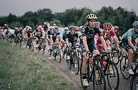Roman Kreuziger (CZE/ORICA-Scott) in teh peloton up the first HC climb of the day; the Col de la Biche (10.5km @9%)<br /> <br /> 104th Tour de France 2017<br /> Stage 9 - Nantua › Chambéry (181km)