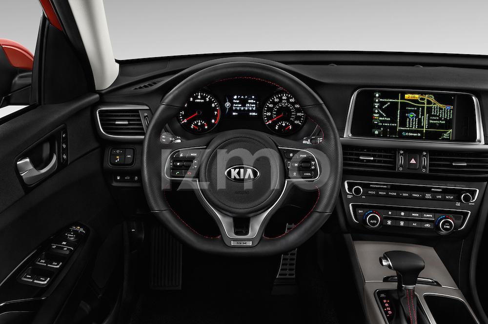 Car pictures of steering wheel view of a 2018 KIA Optima SX 4 Door Sedan Steering Wheel