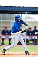 Yucarybert De La Cruz of the Gulf Coast League Mets during the game against the Gulf Coast League Nationals June 27 2010 at the Washington Nationals complex in Viera, Florida.  Photo By Scott Jontes/Four Seam Images