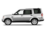 Driver side profile view of a 2010 Land Rover LR4.