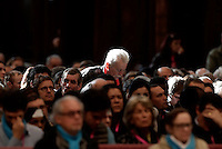 Faithful during a Jubilee Mass for homeless people celebrated by Pope Francis in Saint Peter's Basilica at the Vatican November 13, 2016.<br /> UPDATE IMAGES PRESS/Isabella Bonotto<br /> <br /> STRICTLY ONLY FOR EDITORIAL USE