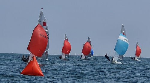 Racing at the DMYC hosted 2021 Fireball National Championships on Dublin Bay