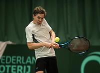 The Hague, The Netherlands, March 17, 2017,  De Rhijenhof, NOJK 14/18 years, Lodewijk Weststrate (NED)<br /> Photo: Tennisimages/Henk Koster