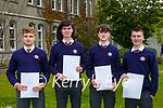 Iuvali Cazacu, Sean O'Leary, Josh Moore and Sean Hickey who graduated from St Brendan's College Killarney on Tuesday