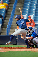 Jack Khawly (10) of Somerset Academy High School in Southwest Ranches, Florida playing for the Tampa Bay Rays scout team during the East Coast Pro Showcase on July 28, 2015 at George M. Steinbrenner Field in Tampa, Florida.  (Mike Janes/Four Seam Images)