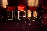 Tavern, Seattle, Skid Road, Pioneer Square, Bar stools in sunlight, Washington State, Pacific Northwest, ..