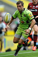 Stephen Myler of Northampton Saints chases down a loose ball during the Aviva Premiership Final between Saracens and Northampton Saints at Twickenham Stadium on Saturday 31st May 2014 (Photo by Rob Munro)
