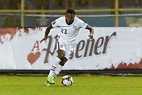 SAN SALVADOR, EL SALVADOR - SEPTEMBER 2: Kellyn Acosta #23 of the United States moves with the ball during a game between El Salvador and USMNT at Estadio Cuscatlán on September 2, 2021 in San Salvador, El Salvador.