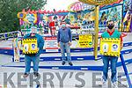 George Bird, Jacek Drysko and Alan Bird getting ready to open Birds Amusements on Saturday.