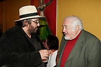Yves Lambert, singer LA BOTTINE SOURIANTE (L)  and Raymond Levesque (R)<br /> <br /> Launch of Marie Marine album. April 25 2006 at Divan Orange in Montreal.<br /> <br /> Marie Marine is the daughter of French Canadian singer Raymond Levesque.<br /> <br /> photo : Roussel  - Images Distribution
