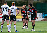 Josh Walters of London Broncos during the Betfred Challenge Cup match between London Broncos and York City Knights at The Rock, Rosslyn Park, London, England on 28 March 2021. Photo by Liam McAvoy.