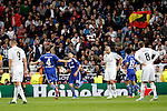 Real Madrid´s Pepe and Benzema and Schakle 04 Huntelaar during Champions League soccer match at Santiago Bernabeu stadium in Madrid, Spain. March, 10, 2015. (ALTERPHOTOS/Caro Marin)