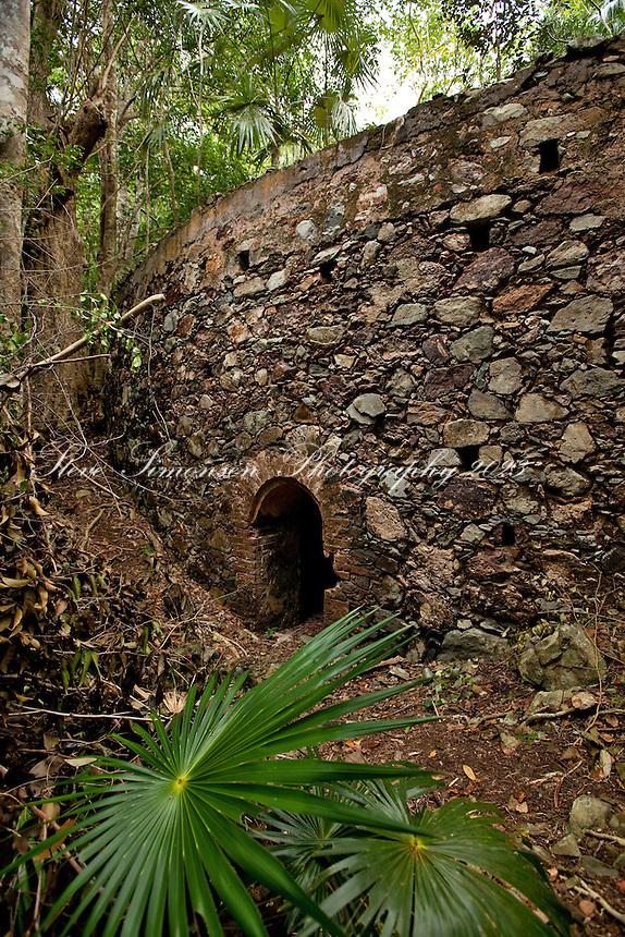 Josie Gut Ruins along the Reef Bay Trail<br /> Virgin Islands National Park<br /> St. John, U.S. Virgin Islands