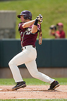 Anthony Melchionda #11 of the Boston College Eagles follows through on his swing against the Virginia Tech Hokies at English Stadium May 2, 2010, in Blacksburg, Virginia.  Photo by Brian Westerholt / Four Seam Images