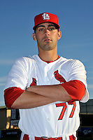 Mar 01, 2010; Jupiter, FL, USA; St. Louis Cardinals pitcher Pete Parise (77) during  photoday at Roger Dean Stadium. Mandatory Credit: Tomasso De Rosa/ Four Seam Images