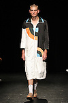 Model Frank walks runway in an outfit from the Linder Spring Summer 2017 collection by Sam Linder and Kirk Millar on July 11 2016, during New York Fashion Week Men's Spring Summer 2017.
