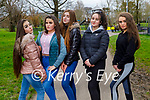Enjoying a stroll in the Tralee town park on Monday, l to r: Eva Finn, Chanelle Fitzgerald, Bronagh Bermingham, Pandy Fitzgerald and Chantelle O'Brien