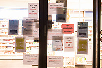 The poor of the ER pharmacy announcing that they are out of various things, and measures they are doing to prevent coronavirus spread. <br /> <br /> Like most capitals, Oslo is usually busy on a Saturday night. But on the first weekend after Norwegian authorites  introduced measures to combat the Coronavirus (COVID-19) the city was almost deserted. <br /> <br /> Restriction on public gatherings, closure of schhols, new rules for those serving food and drinks, and fear of further spread of the virus compelled most bars and restaurants to close. Between 9 and midnight, normally a thriving time in the city centre, hardly any people ventures out. <br /> <br /> ©Fredrik Naumann/Felix Features
