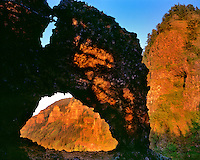 Rock of Ages arch in Columbia River Gorge Nationl Scenic Area Oregon