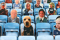 A cardboard cutout of a dog looks on from the stand during Millwall vs Middlesbrough, Sky Bet EFL Championship Football at The Den on 8th July 2020