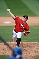 Erie SeaWolves starting pitcher Beau Burrows (33) delivers a pitch during a game against the Hartford Yard Goats on August 6, 2017 at UPMC Park in Erie, Pennsylvania.  Erie defeated Hartford 9-5.  (Mike Janes/Four Seam Images)