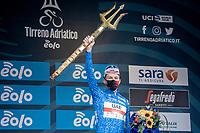Tadej Pogačar (SVN/UAE-Emirates) wins the 2021 Tirreno-Adriatico<br /> <br /> Final stage 7 (ITT) from San Benedetto del Tronto to San Benedetto del Tronto (10.1km)<br /> <br /> 56th Tirreno-Adriatico 2021 (2.UWT) <br /> <br /> ©kramon