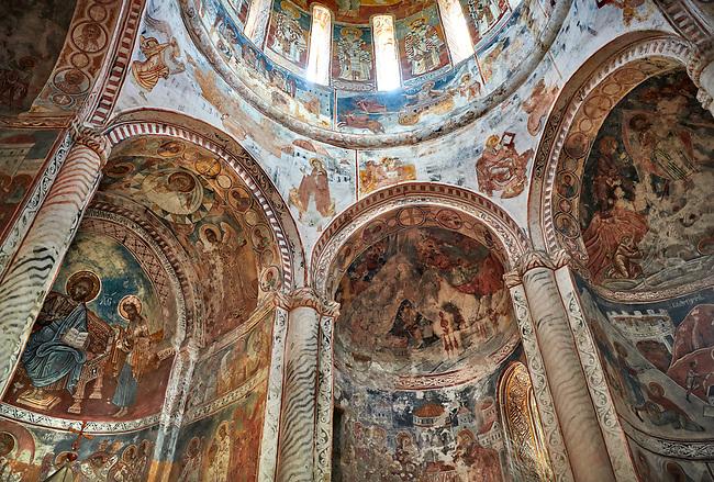 Pictures & images of Nikortsminda ( Nicortsminda ) St Nicholas Georgian Orthodox Cathedral rich interior frescoes, 16th century, Nikortsminda, Racha region of Georgia (country). A UNESCO World Heritage Tentative Site.