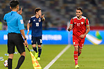Ali Al Busaidi of Oman (R) reacts during the AFC Asian Cup UAE 2019 Group F match between Oman (OMA) and Japan (JPN) at Zayed Sports City Stadium on 13 January 2019 in Abu Dhabi, United Arab Emirates. Photo by Marcio Rodrigo Machado / Power Sport Images