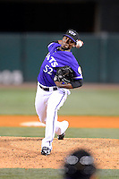 Louisville Bats pitcher Jose Arredondo #52 during a game against the Indianapolis Indians on April 19, 2013 at Louisville Slugger Field in Louisville, Kentucky.  Indianapolis defeated Louisville 4-1.  (Mike Janes/Four Seam Images)