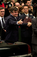 Montreal, 2000-10-03 <br /> Quebec Premier, the Honorable Lucien Bouchard<br /> was attending the funeral of former Canadian Prime Minister, the Honorable Pierre Eliott Trudeau  held at the Notre-Dame Basilica in Montreal (QuÈbec, Canada) on October 10th, 2000.<br /> <br /> <br /> <br /> <br /> PHOTO : Agence Quebec Presse - Pierre Roussel