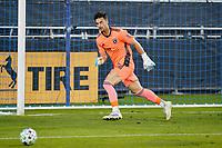 SAN JOSE, CA - NOVEMBER 4: San Jose Earthquakes goalkeeper JT Marcinkowski #18 during a game between Los Angeles FC and San Jose Earthquakes at Earthquakes Stadium on November 4, 2020 in San Jose, California.