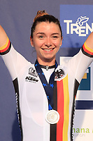 11th September 2021: Trento, Trentino–Alto Adige, Italy: UEC Road European Womens Elite Cycling Championships; 2nd placed Liane LIPPERT (GER)