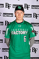 Haldan Bjornson (6) of Wilsonville High School in West Linn, Oregon during the Baseball Factory All-America Pre-Season Tournament, powered by Under Armour, on January 12, 2018 at Sloan Park Complex in Mesa, Arizona.  (Mike Janes/Four Seam Images)