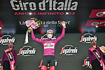 Diego Ulissi (ITA) UAE Team Emirates retains the points Maglia Ciclamino at the end of Stage 3 of the 103rd edition of the Giro d'Italia 2020 running 150km from Enna to Etna (Linguaglossa-Piano Provenzana), Sicily, Italy. 5th October 2020.  <br /> Picture: LaPresse/Massimo Paolone | Cyclefile<br /> <br /> All photos usage must carry mandatory copyright credit (© Cyclefile | LaPresse/Massimo Paolone)
