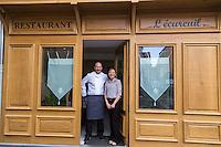 Europe/France/Auvergne/63/Puy de Dome/Clermont-Ferrand: Benoît Piedpremier et Monica Inaudi, restaurant: L'Ecureuil, [Non destiné à un usage publicitaire - Not intended for an advertising use]