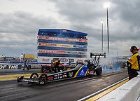 Sep 1, 2017; Clermont, IN, USA; NHRA top fuel driver Ashley Sanford during qualifying for the US Nationals at Lucas Oil Raceway. Mandatory Credit: Mark J. Rebilas-USA TODAY Sports
