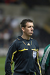 Nationwide Friendly International Wales v Sweden at the Liberty Stadium in Swansea : Referee Alan Black of Northern Ireland...