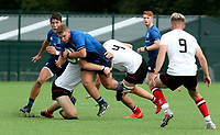 Saturday 5th September 2021<br /> <br /> Tom Stewart during U18 Schools inter-pro between Ulster Rugby and Leinster at Newforge Country Club, Belfast, Northern Ireland. Photo by John Dickson/Dicksondigital