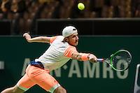 ABN AMRO World Tennis Tournament, Rotterdam, The Netherlands, 14 februari, 2017, Lucas Pouille (FRA)<br /> Photo: Henk Koster