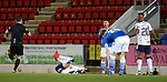 23.12.2020 St Johnstone v Rangers: Michael O'Halloran fouls Borna Barisic and is about to be sent off